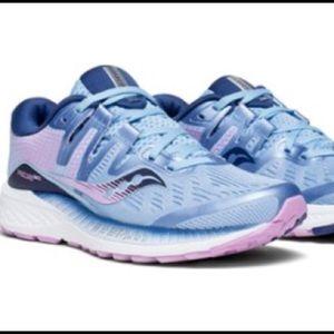 Saucony Ride 9 Womens US 8 Running Shoes S10318 Navy Blue Pink Everun Athletic